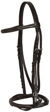 BROWN FLASH NOSE BAND LEATHER ENGLISH SCHOOLING AP HORSE BRIDLE TACK SET REINS