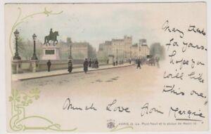 France postcard - Paris, Le Pont-Neuf et la statue de Henri IV (A209)