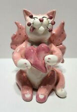 Whimsiclay 2003 Cat Figurine Signed 86033