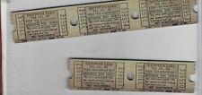 Vintage lot Universal white ride tickets Chippewa Lake Ohio FREE SHIPPING