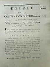 637 LOI  DECRET CONVENTION NATIONALE 1793 TRÉSORERIE PAYEMENT ENTREPRENEUR ARMÉE