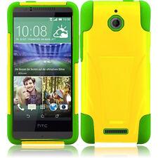 HTC Desire 510 Hard Advanced HYBRID KICKSTAND Rubber Case Cover +Screen Guard