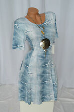 Kleid Sommer Jeans Risse Optik Used Look Exclusiv Classics & More hell blau 44