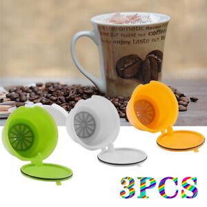 Nachfüllbar Wiederverwendbar Kaffee Kapsel Nescafe Dolce Gusto Adapter 3 Stück