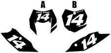 2014-2016 KTM 350EXC-F Custom Pre-Printed Black Backgrounds with White Numbers