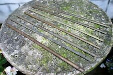 More details for 7 x vintage domed filled brass stair carpet rods. screw down type