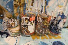 STAR WARS Burger King 1983 Return of the Jedi ROTJ Complete SET of 4 Glasses NEW