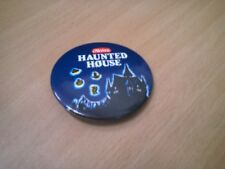 """Heinz Haunted House Tinned Pasta Shapes button badge 2.25""""55mm Free UK Posting"""