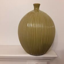 Green Ceramic Vase Art Decorative home table Modern flower Debenhams handmade