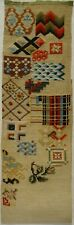 Late 19Th Century Unfinished Berlin Work Pattern, Stitches etc Sampler - c.1880