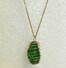 """Andara Crystal Pendant Necklace """"Emerald Shift"""" 18"""" GP chain"""