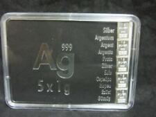 Silberbarren 999er - 5 x 1 g Silber in einem Plexiglasblister     CV2381