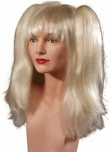 Wig Platinum Blonde High Pigtail Synthetic Comic Book Villainess Costume Wig