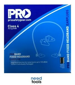Box of 10 Banded EAR Plugs Proband Fixed Headband Ear Plug & Bonus Earmuff Pads