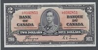 1937 (BC-22c) Bank of Canada Two Dollars AU-50