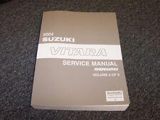 2004 Suzuki Vitara SUV Workshop Shop Service Repair Manual Vol2 LX 2.5L V6