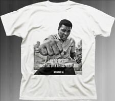 Muhammad Ali Greatest Boxer tribute printed white cotton t-shirt FN9351