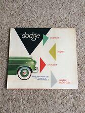 1953 Dodge of Canada original dealership showroom deluxe color sales catalogue