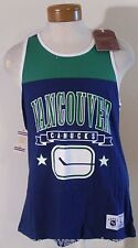 NWT Mitchell & Ness Vancouver Canucks Mens Color Blocked Tank Top Shirt L Blue
