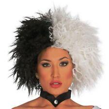 parrucca crudelia demon bianca e nera CARNEVALE per travestimento 4857