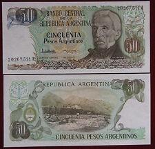 ARGENTINA GENERAL JOSE DE SAN MARTIN 50 PESOS 1983 - 85 Pick 314 Fds / Unc#B1271