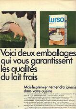 PUBLICITE  1968    LURSO  lait écrémé en poudre