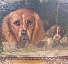 Wang Aage 1879-1959 HUNDE Welpe HUND Portrait SETTER Beagle Kynologie Hundehütte
