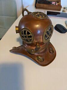 Vintage Copper & Brass Diving Helmet Steampunk Mancave