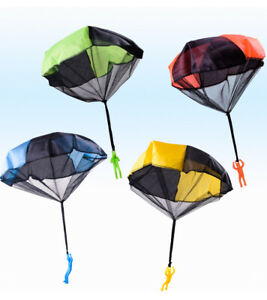 UK Kids Mini Play Parachute Hand Throwing Toy Soldier for Outdoor Children ToKx