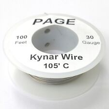 100' Page 30AWG GREY KYNAR Insulated Wire Wrap Wire 100 Foot Roll ~ Made In USA