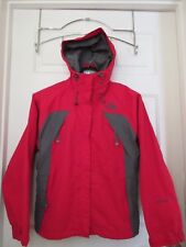 The North Face Hyvent Women's Red/Gray Skiing Snowboard Shell Jacket Small S