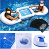 Summer Pool Inflatable Floating Poker Game Table +Chairs +Waterproof Poker Party