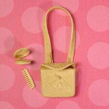 Vintage Marx Best of the West Jane West Accessories Purse Compact Comb Tan EXLNT