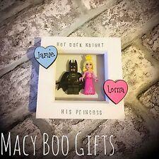 Batman And Aurora Lego Frame Valentines Gift Present Boyfriend Girlfriend Wife