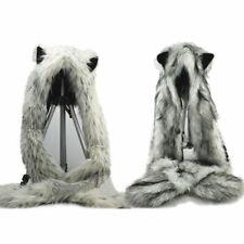 "60//72//79/""Waterproof Polyester Shower Curtain /&Hooks-Snow Wolf Run To Moon WG163"
