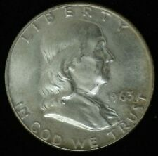 1963 D - FRANKLIN HALF DOLLAR - SILVER - UNC CONDITION