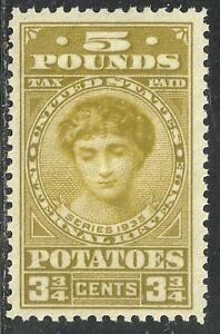 U.S. Revenue Potato Tax stamp scott ri5 - 5 pounds / 3 3/4 cent issue - mnh  #11