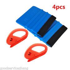 4 PCS a Set of Car Carbon Fiber Vinyl Film Sticker Wrapping Install Tools Kit