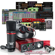 Focusrite Scarlett Solo Home Studio Recording Bundle Package + Pro Tools First
