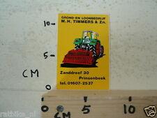 STICKER,DECAL M H TIMMERS & ZN PRINSENBEEK GROND EN LOONBEDRIJF TRACTOR