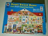 "Vintage 1995 Home Sweet Home 26 Piece 24""x36"" Jumbo Floor Puzzle"