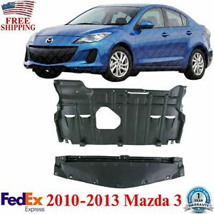 Front and Rear Under Cover Engine Splash Shields For 2010-2013 Mazda 3