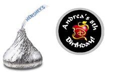 DISNEY DESCENDANTS 2 HERSHEY KISS KISSES LABELS STICKERS BIRTHDAY PARTY FAVORS