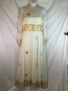 Womens Cleopatra Halloween Costume Dress Gown ONLY Egyptian Medium Molly Parnis
