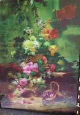 3D Effect Lenticular Printing Moving Picture Wall Decor *Flower and Fruits*