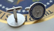 TRUMP PRESIDENTIAL SEAL VIP CUFFLINKS~SILVER~WHITE HOUSE GIFT ITEM~NEW & MINT