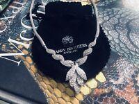 4.0ct Diamond Necklace 14kt White Gold