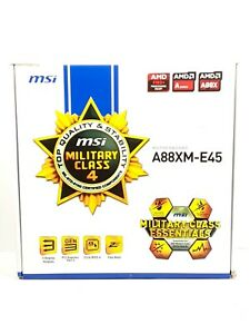 MSI A78M-E45 V5.0 FM2+ AMD A78 ATX DDR3 Motherboard