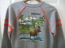 Vintage Yellowstone Sweatshirt L National Park Service Summer Vacation Souvenir
