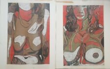 Rodney Gladwell 1928-1979 fantastic large original signed 2 abstract paintings